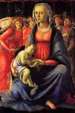 Botticelli Sandro The Virgin with the child and five angels A4 Photo Print