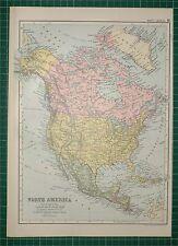 1905 Antiguo impresión ~ América del Norte Estados Unidos México Cuba Jamaica Canadá