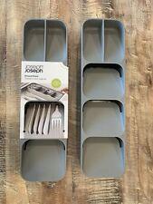Joseph Joseph 85119 DrawerStore Kitchen Drawer Organizer Tray - Gray Two Total