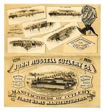 John Russell Cutlery Philadelphia 1876 Centennial Expo ULTRA RARE Promo Pamphlet