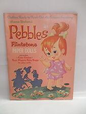 Pebbles Flintstone Vintage Paper Dolls Punch Out Portfolio Book Clothes Dino Pet