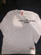 Supreme Comme Des Garcons CDG FW15 Long Sleeve T-shirt Tee White SZ:L DS