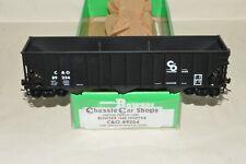 HO scale Bowser Chesapeake & Ohio Ry 100 ton 45' 3 bay coal hopper car train