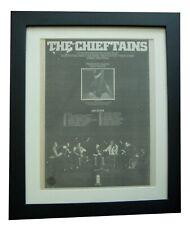 More details for the chieftains+chieftains 5+poster+ad+rare original 1975+framed+fast world ship