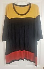 George Women's Multi Colour Striped 3/4 Sleeve Jumper  Dress Top Size UK 18 / 46
