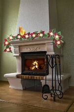 """Poinsettia Christmas Garland  Fabulous Christmas Feature For 2018 """"FREE POSTAGE"""""""