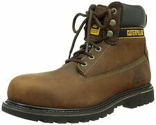 "Mens Caterpillar Holton Steel Toe Cap Safety Boots CAT 6"" Work Boots Size 7"