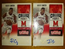 x2 ROBERT CARTER MARYLAND TERPS: 2017-18 CONTENDERS TICKET AUTO AUTOGRAPH RC LOT