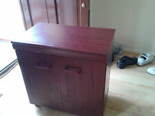 Bedside cabinet, good quality, castor, mahogany, vintage, very clean