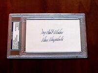 DON DRYSDALE 3 X WSC 1962 NL CY HOF DODGERS SIGNED AUTO VTG INDEX CARD PSA/DNA