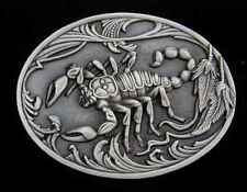 SCORPION BELT BUCKLE SOLID PEWTER DETAILED BUCKLES NEW
