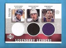 KOBE BRYANT & WAYNE GRETZKY GAME USED JERSEY RELIC CARD LA LAKERS KINGS S GREEN