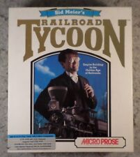 Sid Meier's Railroad Tycoon, MicroProse in Box w/ Official Guide & More (1992)