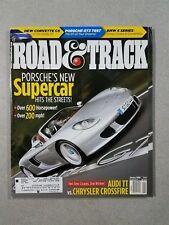 Road & Track Magazine January 2004 Porsche Carrera GT & 911 GT3 BMW 654i Audi TT