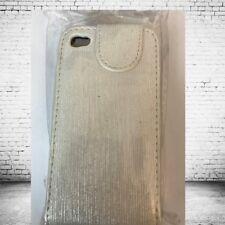 iphone 4 4s Protective Classy Cream Off White Beige Flip Case Neon Top Quality
