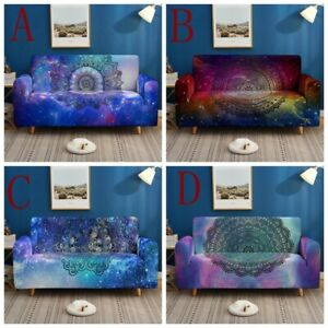 1/2/3/4 Seater Mandala Slipcover Stretchy Sofa Cover All-inclusive For Home Deco