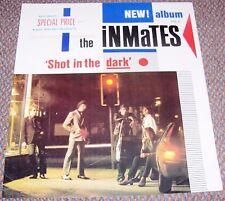 "INMATES HOT RODS UK RECORD COMPANY PROMO POSTER ""SHOT IN THE DARK"" ALBUM IN 1980"