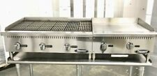 36 Char Broiler 2 Grill Flat Griddle Package New Char Gill 60