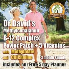 Dr David's Vitamin B-12 Complex B12 Patch Methylcobalamin & Methylfolate 3 Month