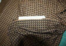 """2Y Ellen Tracy Fabric 64""""W-Geometric Brown & Black 90% Wool & 10% Rayon"""