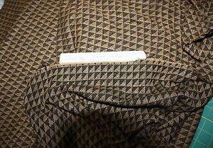 "2Yards 90% Wool & 10% Rayon 64""W-Geometric Brown & Black an Ellen Tracy Fabric"