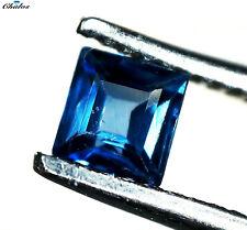 1x Saphir - carree facettiert Blau  2,4x2,4mm (SA006B)