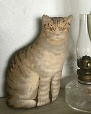 Original Antique Arnold Print Works 1892 Ithaca Tabby Stuffed Cat Doll 6.25""