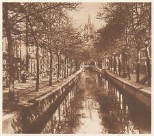 G0176 Pays Bas - Delft - Vue - Stampa d'epoca - 1923 Old print