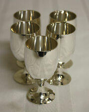 Leonard Silver Co. Silver Plate Miniature Cordial Shot Glass Goblets Cups Lot 5