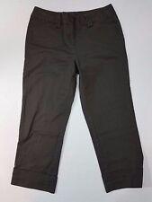 Ann Taylor Signature Stretch Cropped Capri Brown Pants SZ 0 Cotton/Spandex