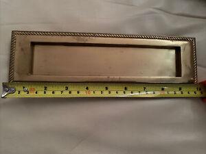 """Brass letter box plate 10"""" X 3"""""""