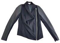 Helmut Lang Asymmetrical Zip Up Drape Neck Jacket Size P Womens