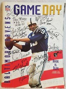 1997 Baltimore Colts/Ravens Signed Program Autographed Gameday Last Game
