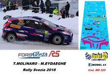 DECAL  1/43 -  FORD FIESTA R5  - MOLINARO  - Rally  SVEZIA 2018