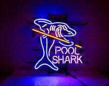 "New Pool Shark Billiards Neon Light Sign 17/""x14/"" Wall Decor Man Cave Bar Beer"
