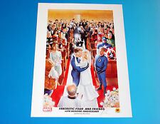Fantastic Four 40th Anniversary Signed Wedding Lithograph Alex Ross Art Marvel