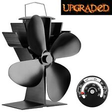 Heat Powered Stove Fan Wood Stove Fans 360 CFM 4 Blade Aluminium Silent Eco-f...