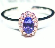 .71CT 14K Gold Natural Tanzanite Diamond Vintage AAA Antique Engagement Ring