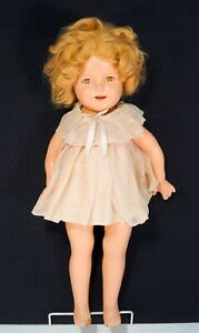 """Antique Vintage 1930's SHIRLEY TEMPLE 18"""" Composition Ideal Doll Magic Eyes"""