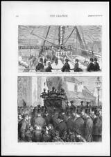 1874-antica stampa Hampshire Southampton Malwa REGINA BARA D'ASTA (194)