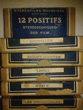 stéréofilms Bruguière,12 positif stéréoscopiques  LOURDES TOURISTIQUE