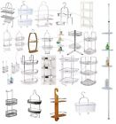 Over Door Hanging Basket Shower Toilet Chrome 1/2/3 Tier Organiser Kitchen Hinch