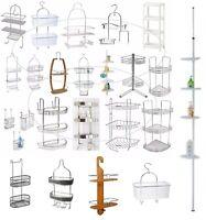 Over Door Hanging Basket Shower Toilet Chrome 1/2/3 Tier Organiser Kitchen Hinch