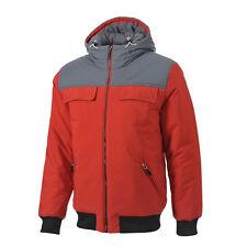 Adidas Mens Praezision Red Jacket Zips Pockets Adjustable Hood M69868 Z9
