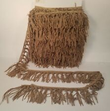 """Faux Suede Leather fringe tassel Trim by the yard 4"""" Doll Clothes Lamp shade"""