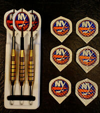 NEW YORK ISLANDERS - NHL - HOCKEY STEEL TIP DART SET - THE GAME ROOM STORE NJ