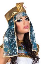 Deluxe Cleopatra Egyptian Queen Asp Net & Sequin Headdress Fancy Dress Costume