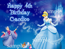 PRINCESS Edible ICING Image Photo CAKE Topper Decoration Cinderella