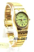 New Citizen Ladies Gold-tone, Oval-dial Dress Watch