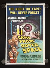 IT CAME FROM OUTER SPACE JACK ARNOLD SCIENCE FICTION 1953 ONE SHEET